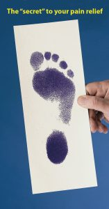 Your foot impression is an important step in pain relief.