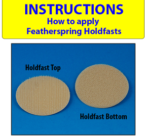 Featherspring Holdfasts Top and Bottom pictured.