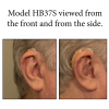 The HB37S worn and viewed from the front and the side.