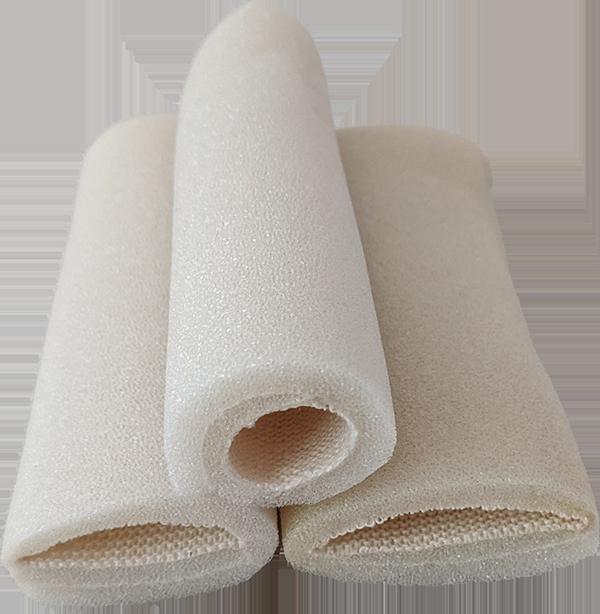 Multi-Size Tubular Bandages. Different diameters shown. soft spongy foam bandages